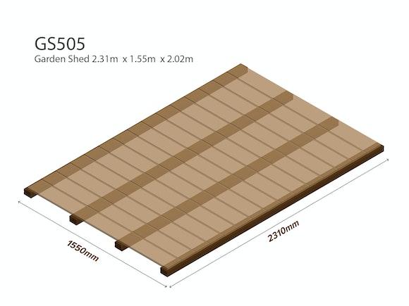 Garden Shed Wooden Floor Kit 2.31m x 1.55m
