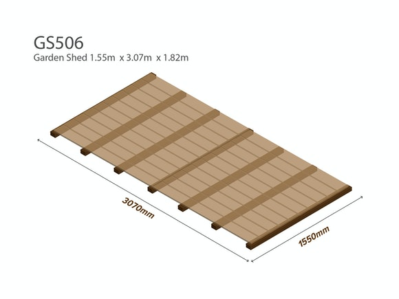 Garden Shed Wooden Floor Kit 1.55m x 3.07m