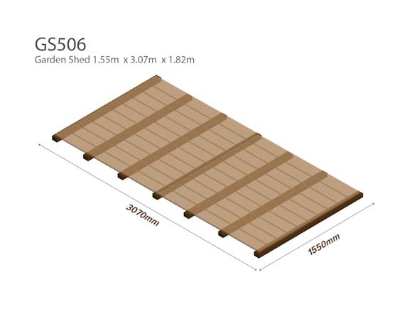 Garden Shed Wooden Floor Kit 1.55m x 3.07m