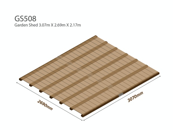 Garden Shed Wooden Floor Kit 3.07m x 2.69m