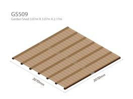 Garden Shed Wooden Floor Kit 3.07m x 3.07m