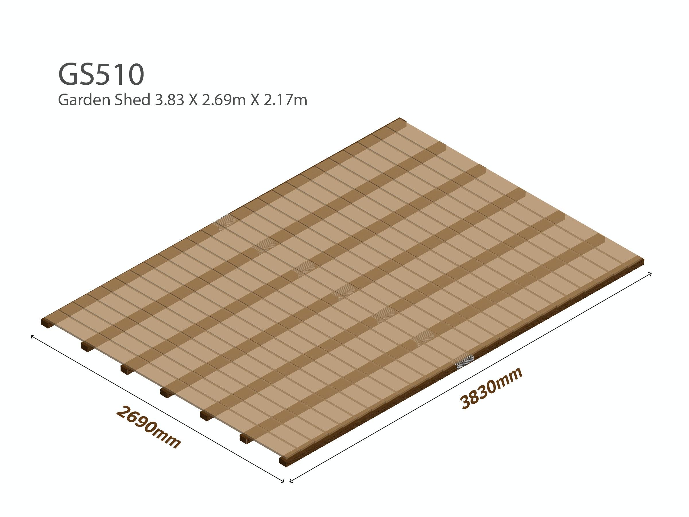 Garden Shed Wooden Floor Kit 3.83m x 2.69m