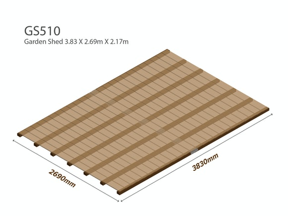 Garden Shed Wooden Floor Kit 3.83m x 2.69m