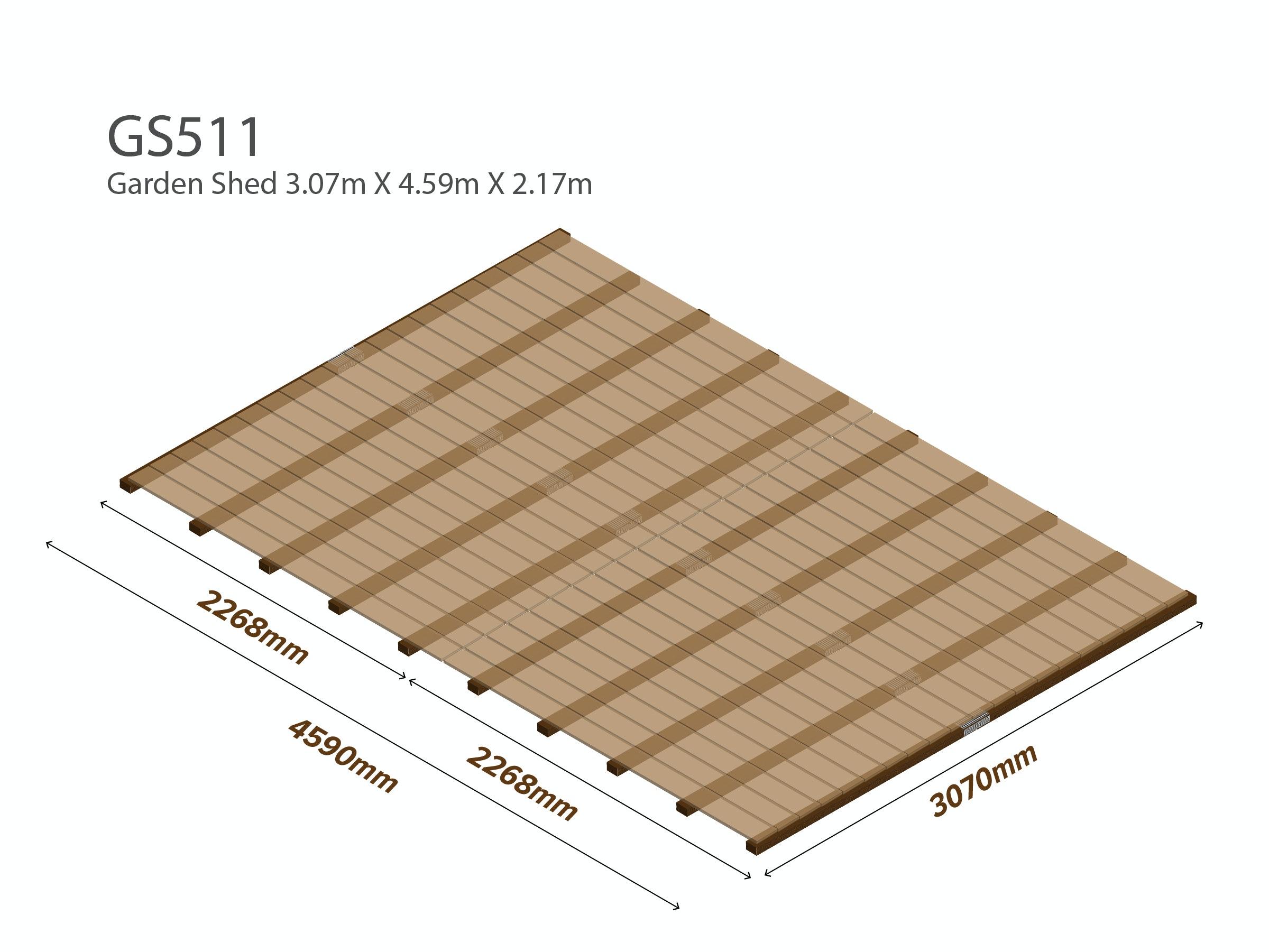 Workshop Shed Wooden Floor Kit 3.07m x 4.59m