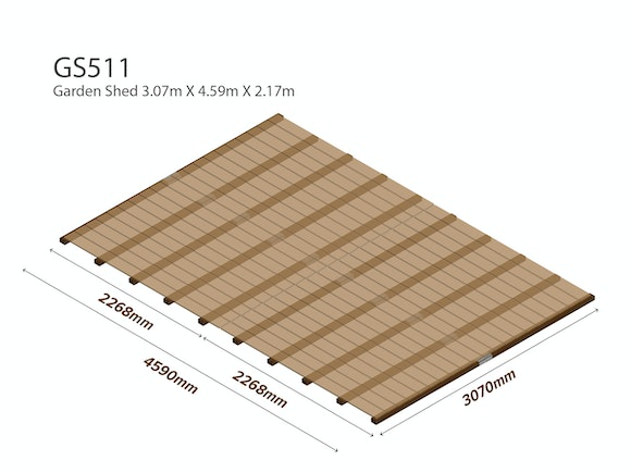 Workshop Shed Wooden Floor Kit 3.07m x 4.59m