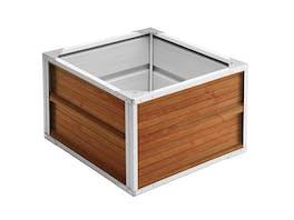 Raised Garden Bed 60cm x 60cm x 41cm Wood Finish