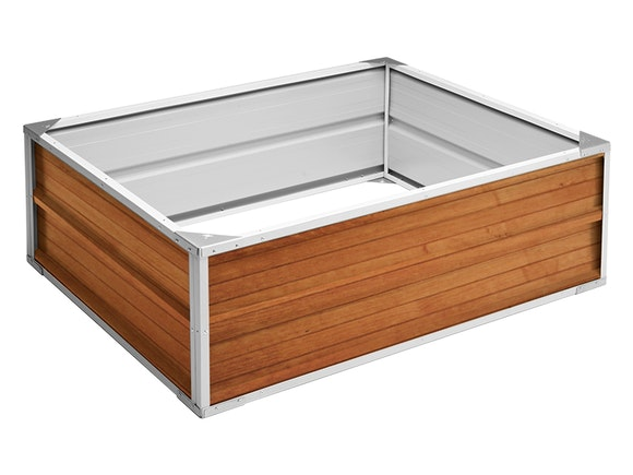 Raised Garden Bed 120cm x 90cm x 41cm Wood Finish
