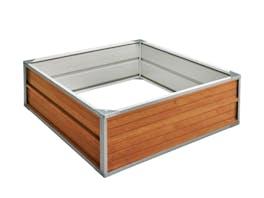 Raised Garden Bed 120cm x 120cm x 41cm Wood Finish