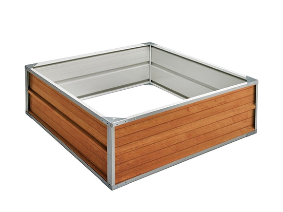 Raised Garden Bed 120cm x 120cm x 41cm Wood Finish
