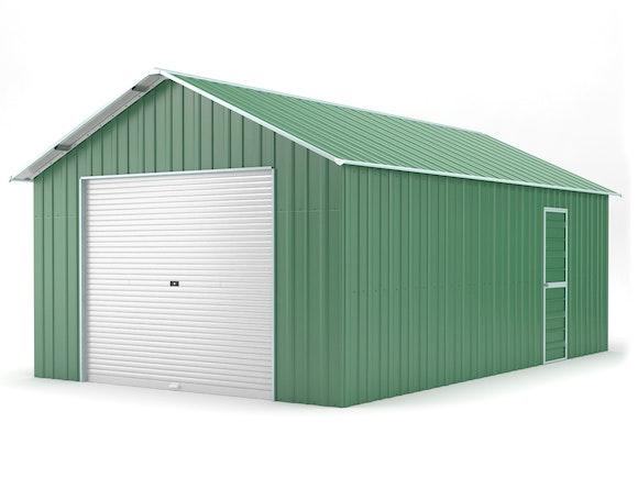 Single Garage 4.4m x 7.2m Dark Green