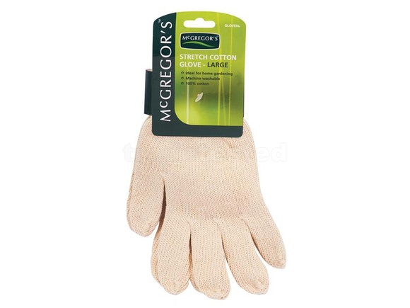 McGregors Large Knitted Cotton Gloves (Pair)