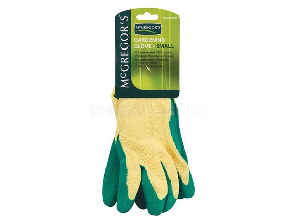 McGregors Small Crinkle Latex Cotton Gloves (Pair)