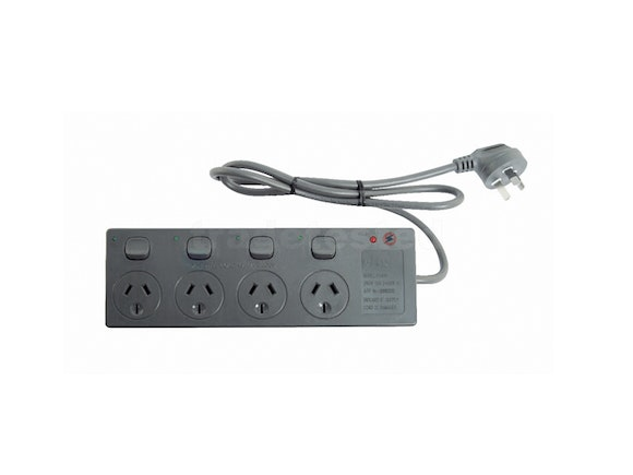 Goldair Power Board 4 Outlet with Individual Switches