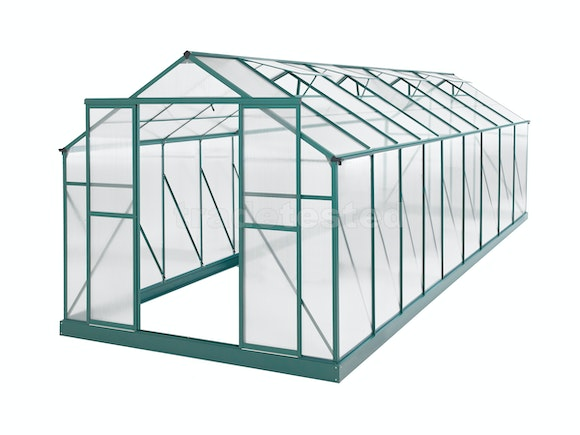 Evergreen Greenhouse 20 x 8ft Green