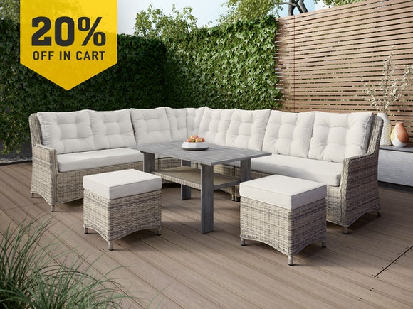 Heritage Rattan Family Dining Suite 8-Seater