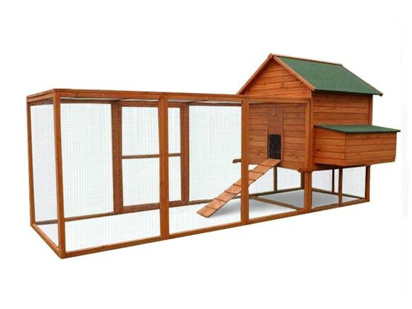 Wooden Chicken Coop XX-Large 365 x 152 x 158cm