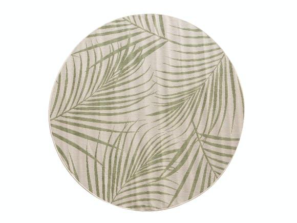 Signature Outdoor Rug Karaka Palm Green Round 160cm