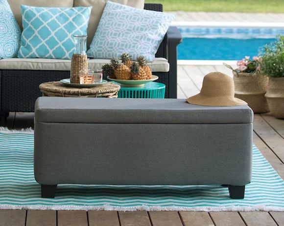 Keter Milan Upholstered Outdoor Storage Box 110L