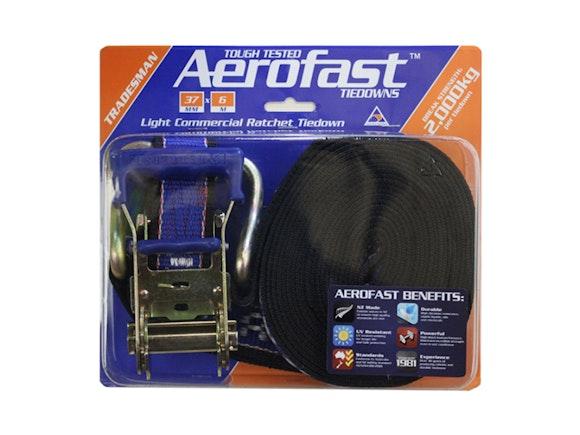 Aerofast Ratchet Tiedown 37mm x 6m Light Commercial
