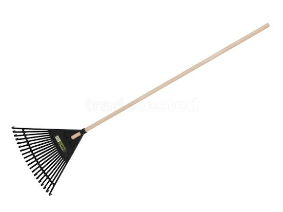 McGregor's Wood Handle Plastic Leaf Rake