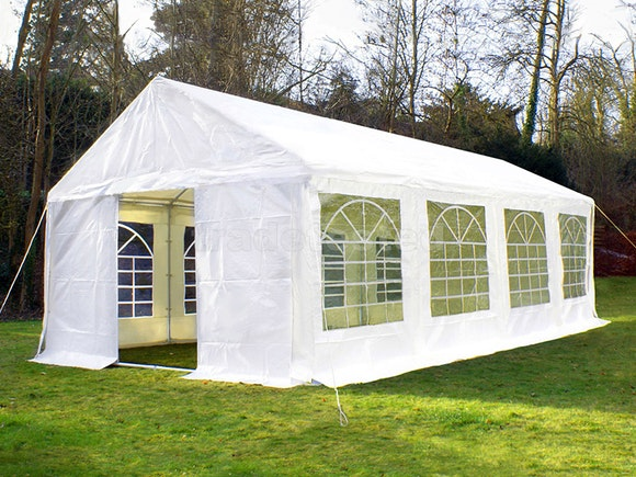 Great White Marquee 4m x 8m Heavy Duty PVC