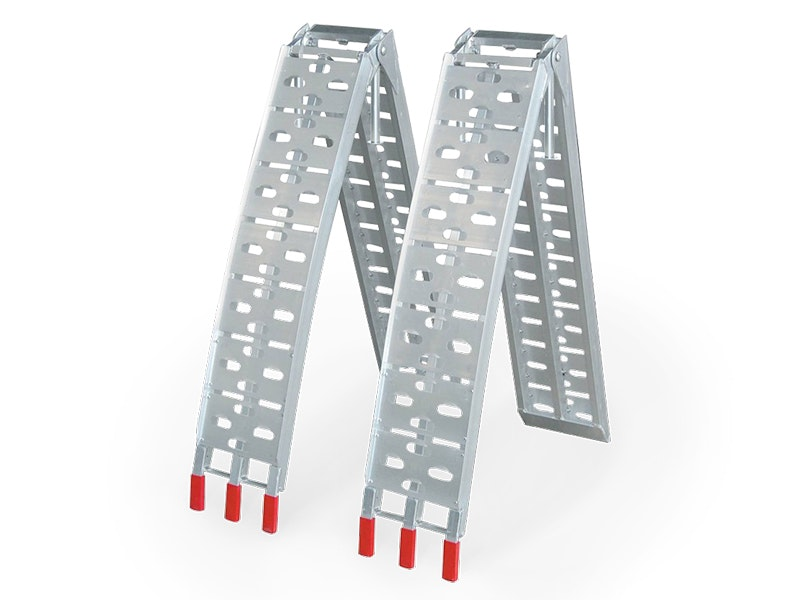 ATV & Motorcycle Arched Loading Ramps with Support Legs - Pair