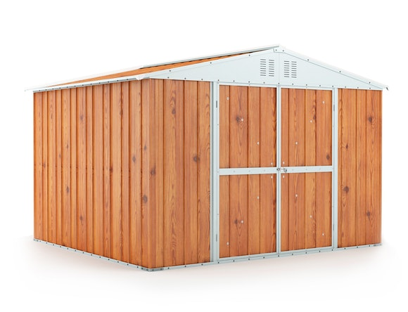 Garden Shed 3.07m x 2.69m x 2.17m Wood Finish