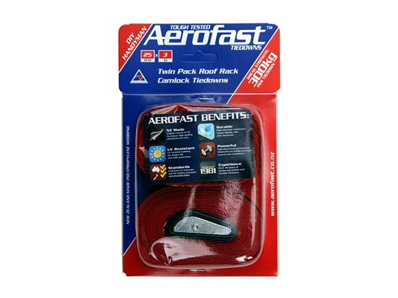 Aerofast Roof Rack Tiedown 25mm x 3m - Twin Pack