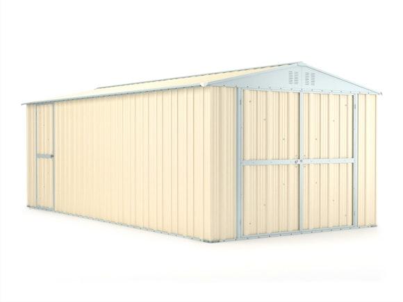 Workshop Garage 3.07m x 6.11m x 2.37m Cream