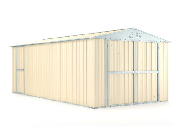 Workshop Garage 3.07m x 6.11m x 2.37m Cream