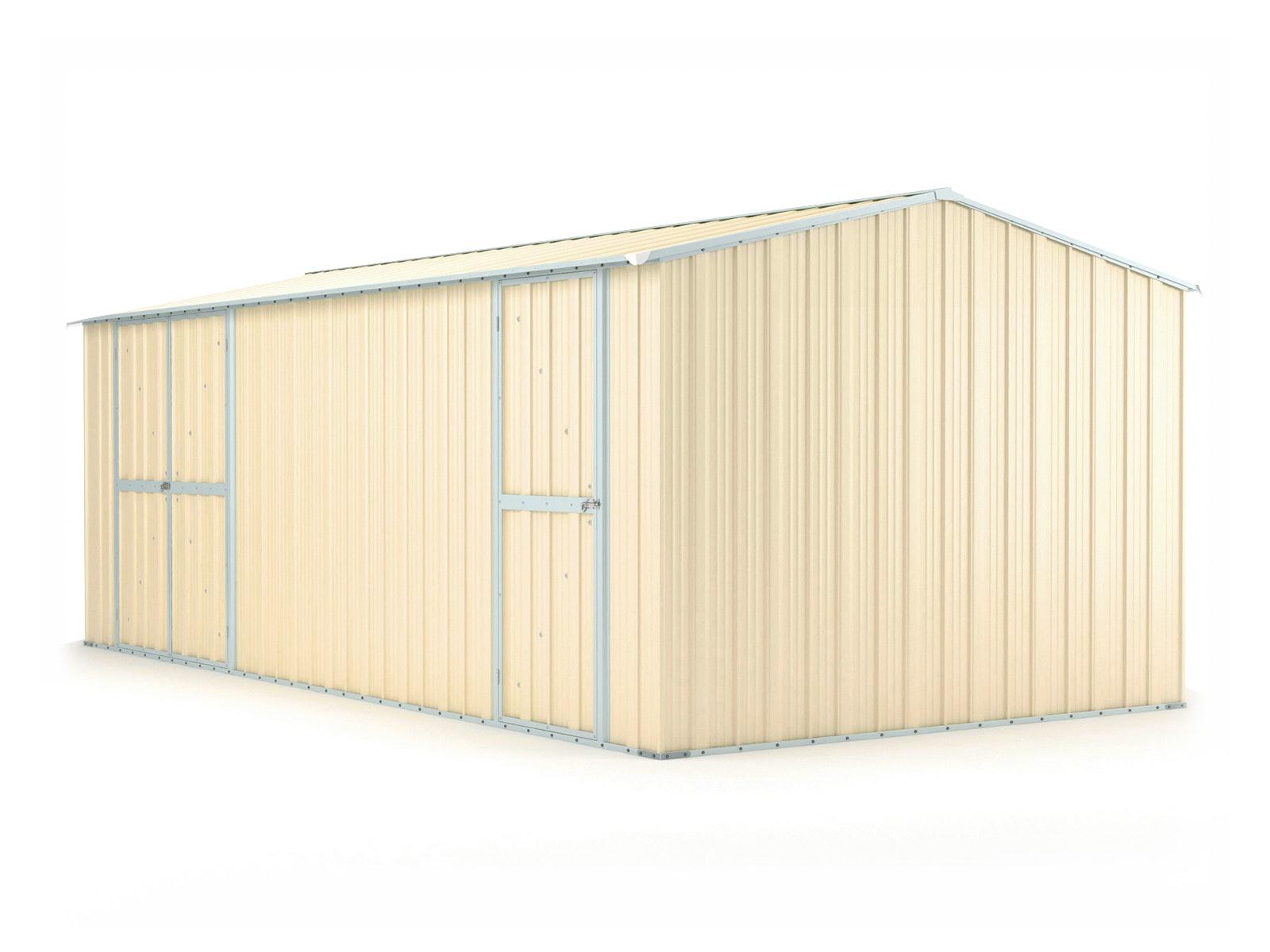 Workshop Shed 6.11m x 3.07m x 2.27m Cream