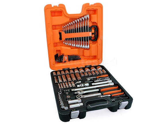 "Bahco 103 Piece 1/4"" & 1/2"" Deep Socket & Spanner Set"