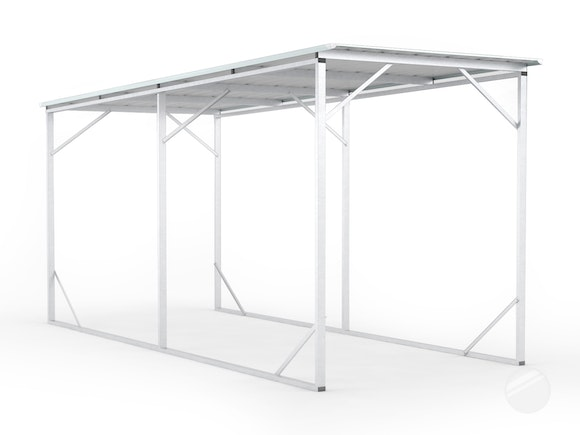 carport x x frosted roof 3m x 6m. Black Bedroom Furniture Sets. Home Design Ideas