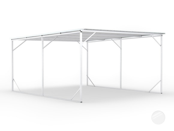 Carport 2.6m x 6.0m x 2.6m Frosted Roof