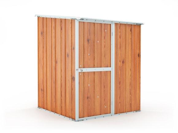 Garden Shed 1.55m x 1.55m x 2.02m Wood Finish