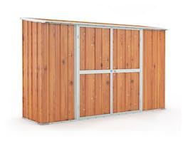 Garden Shed 3.07m x 0.79m x 1.92m Wood Finish