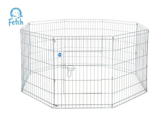Fetch Dog Exercise Pen & Fence 91cm 8 Panel Large