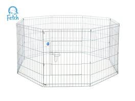 Fetch Dog Exercise Pen & Fence 122cm 8 Panel XX-Large