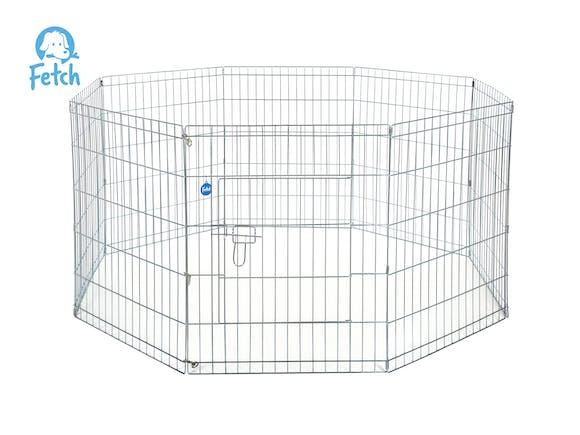 Dog Exercise Pen & Fence 122cm 8 Panel XX-Large