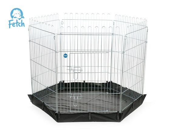 Fetch Dog Exercise Pen & Fence with Base 122cm X-Large