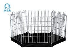 Fetch Dog Exercise Pen & Fence with Base 60cm X-Small