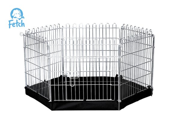 Dog Exercise Pen & Fence with Base 60cm X-Small