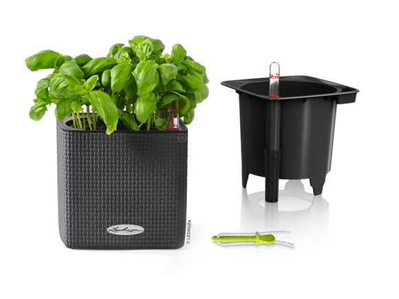 Lechuza Cube Planter Colour 14 - Slate