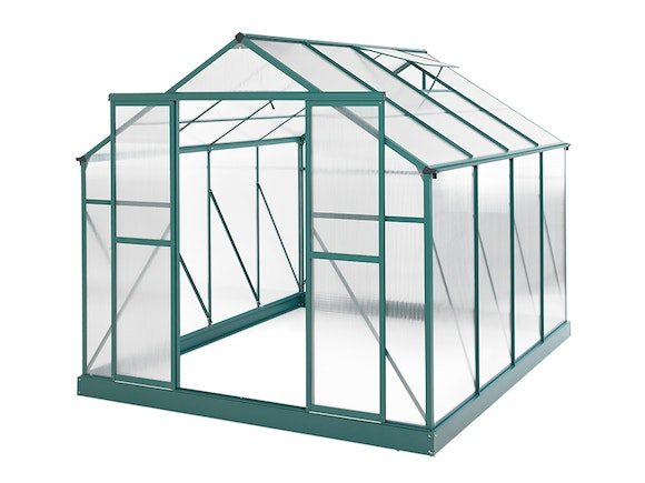 Evergreen Greenhouse 10 x 8ft Green