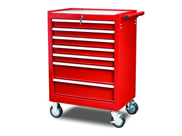 "Rolling Tool Cabinet 7 Drawer 27"" Series"